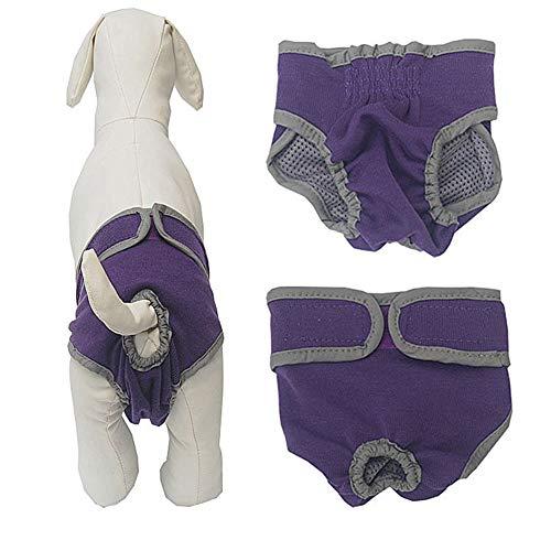 KANKOO Hundewindeln Hundewindeln Für Hündinnen Hunde-Inkontinenzhose Physiologische Haustierhosen Hygienehosen für Hunde Waschbare Welpenwindeln Purple,s
