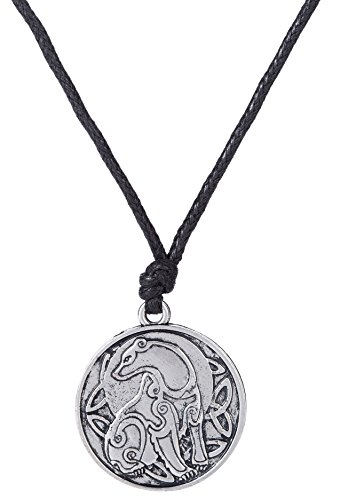 Fishhook Lovely Tier Bär Irischer Knoten Muster Anhänger Halskette Romantisches Geschenk für Damen und Herren