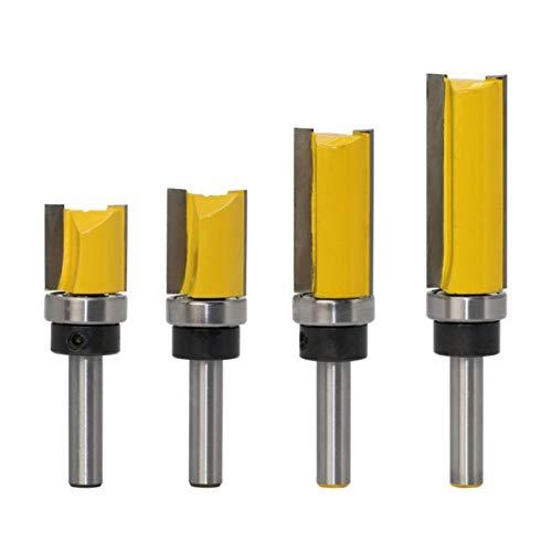 Meccion - Set di 4 frese professionali per lavorazione del legno, con codolo da 8 mm