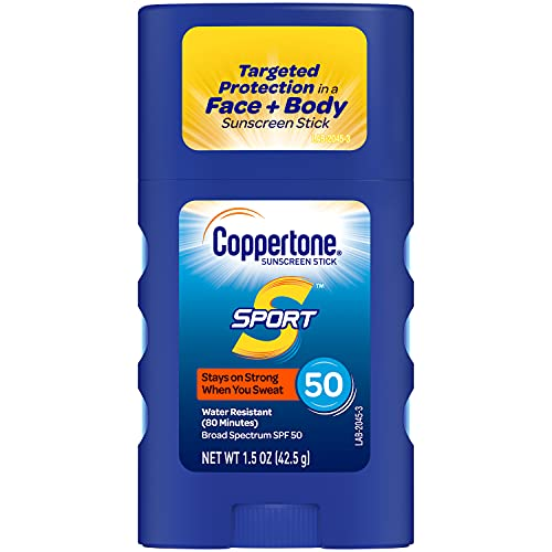 Coppertone SPORT Sunscreen Stick Broad Spectrum SPF 50 (1.5 Ounce) (Packaging may vary)