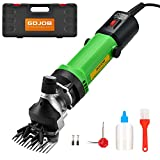 Sheep Shears,550W Professional Electric Animal Grooming Kit for Sheep Equine Goat Pony Cattle and Large Thick Coat Animals, 6 Speeds Heavy-Duty Farm Livestock Haircut Trimmer