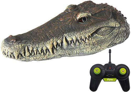 szyzl88 Schwimmende Alligator Kopf Lockvogel, Harz Simulation Krokodil Kopf V005 2.4G Elektrisch Simulation Krokodil Fernbedienung Boot Kann Auch Sein Gebraucht für Teich Kunst Dekoration