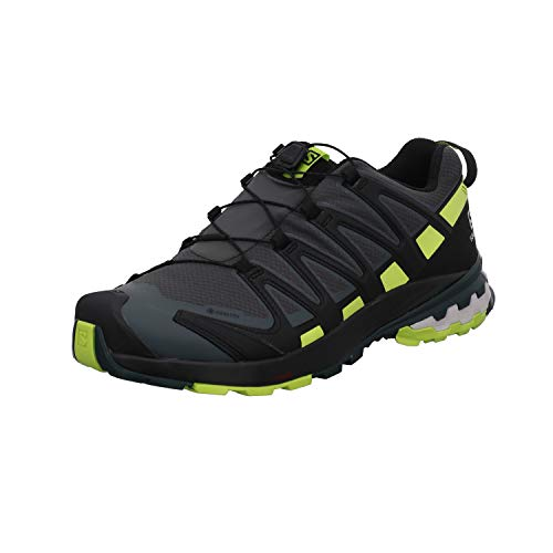 SALOMON Speedcross 4 GTX, Scarpe da Trail Running Uomo, Grigio (Urban Chic/Black/Lime Punch), 43 1/3 EU