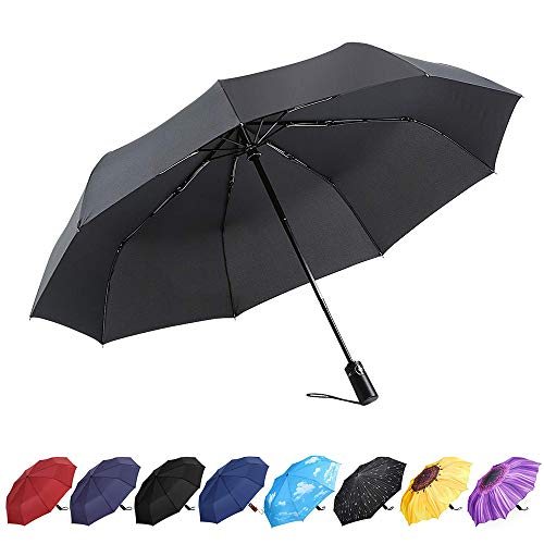 YumSur Compact Travel Umbrella - Windproof, Reinforced...