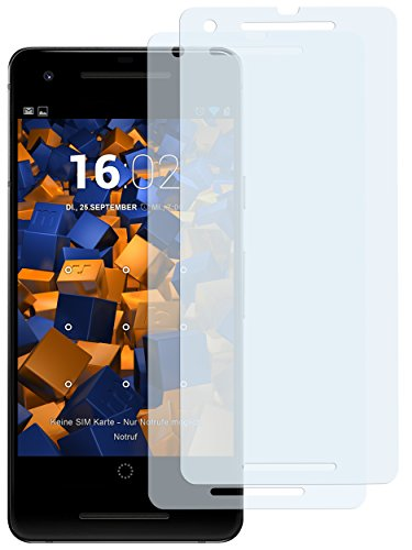 mumbi Schutzfolie kompatibel mit Google Pixel 2 Folie klar, Bildschirmschutzfolie (2x)