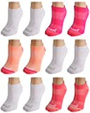 Avia Women's Pro Tech Performance No Show Athletic Socks (12 Pack), Pink, Shoe Size: 4 - 10