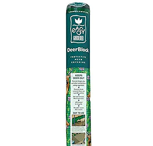 Easy Gardener 6050 Shrubs from Animals 7 x 100 feet DeerBlock Deer Netting and Fencing Reusable Protection for Trees and 7 ft ft Black