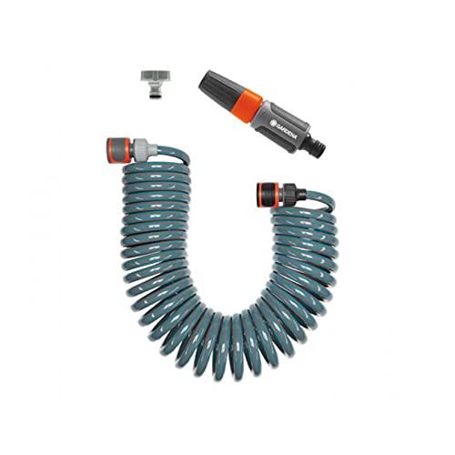 Gardena 464826 Sprinkler-Kit mit flexiblem Schlauch 15 m, blau