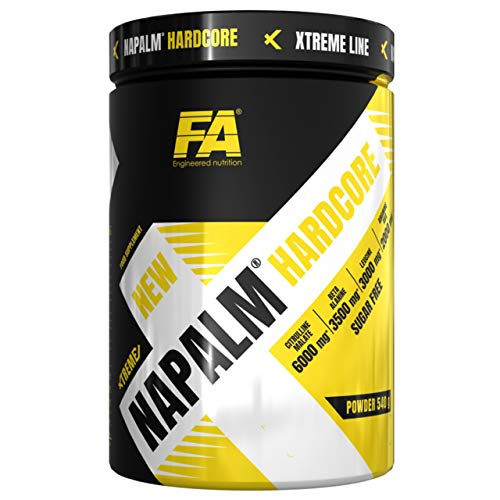 Fitness Authority FA Xtreme Napalm Hardcore Confezione da 1 x 540g - Aminoacidi - Beta Alanina - Arginina - Taurina - Citrullina - Caffeina - Piperina - Vitamine e Minerali (Exotic)