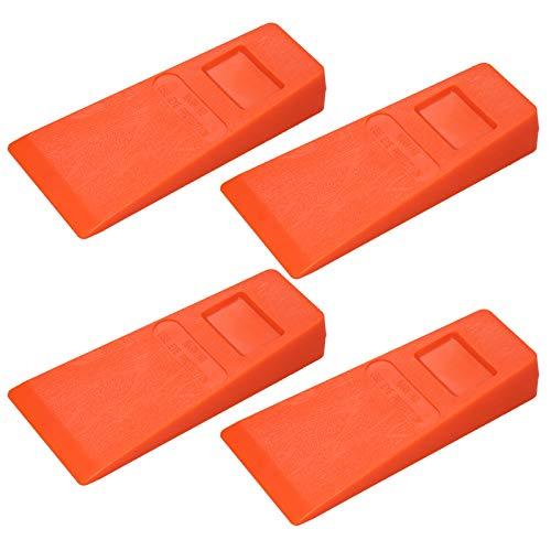 Hylotele Kunststoff-Fällkeil - 4Pcs 14Cm Orange Kunststoff Fällkeil Gekeilter Keilbaum Schneidkeil Stachelkeil Holzschnittwerkzeug