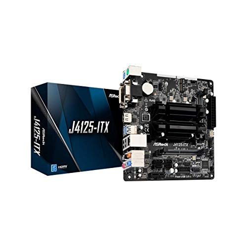 ASRock J4125-ITX, Intel, SOC (J4125), 2DDR4 (SO-DIMM), 8GB, VGA+DVI+HDMI, GBLAN, 4SATA3, 4USB3.2, MITX