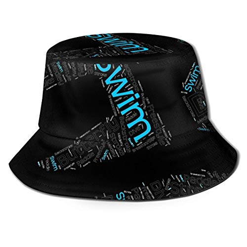 Lawenp Sombrero de Cubo de natación Unisex Plegable de Verano Cubo de Viaje Boonie Sombrero de Sol Gorra de Pescador al Aire Libre