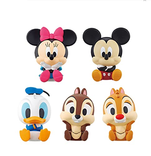 5Pcs/Set Character Modeling Clip Dolls Mickey Mouse Minnie Mouse Donald Duck Chip 'N' Dale Action Figure Toys Model Statue 4Cm