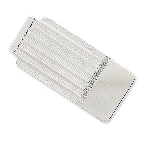 14 ct WhiteSolid pulido clip de dinero para regalo de joyería para hombres