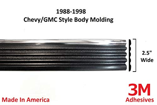 Autmotive Authority Replacement Chrome Side Body Trim Molding for 1988-1998 Chevy GMC Tahoe Suburban Silverado Pickup Truck - 2.5