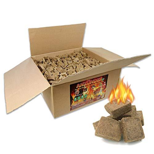 WOLOSZYN Öko-Kaminanzünder - 5 kg - Anzünder Grillanzünder Holzanzünder Kaminholzanzünder - Feueranzünder für Grill, Kamin und Feuerschalen