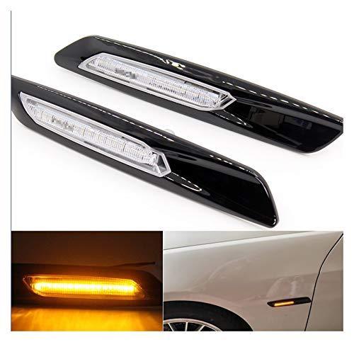 shengyuan 2pcs Negro Trim LED Fender Marker Light Light Light Lámpara de señal Ajuste para BMW 1/3/5 Series E81 E82 E87 E88 E60 E61 E90 E91 E92 E93