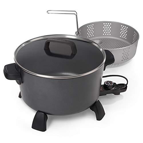 National Presto Presto 06009 10-quart Kitchen Kettle XL steamer Multi-Cooker, Black