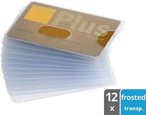 valonic Kreditkartenhülle, Loch Ausschnitt, EC Karten Hülle, Scheckkartenhülle, Kartenhüllen, Schutzhülle, Ausweishülle, 12 Stück