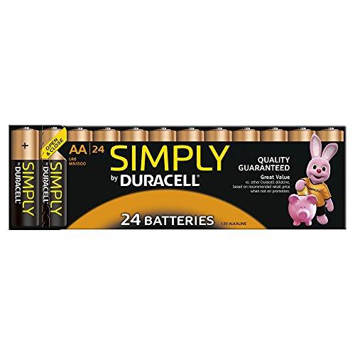 Duracell Simply AA (LR6) Alkaline-Batterien, 24 Stück