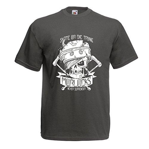 lepni.me N4605 Camiseta Skate or Die Trying (Medium Grafito Multicolor)
