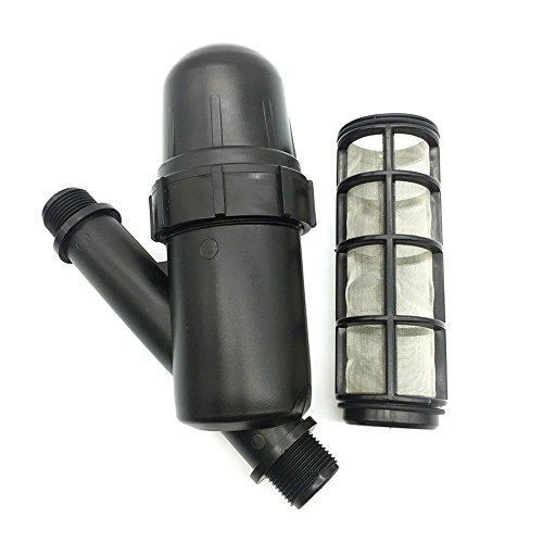 Fesjoy Wasserfilter Siebfilter Filter für Gartenschlauch, 1 Stück Garten Rasen Bewässerung im Freien Metallnetzfilter 3/4 Zoll Siebfilter Garten Spray Bewässerungswerkzeuge