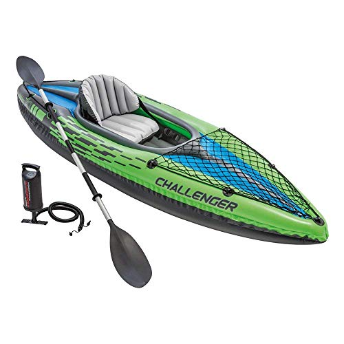 Intex Challenger K1 Kayak, 1-Person Inflatable Kayak Set with Aluminum...