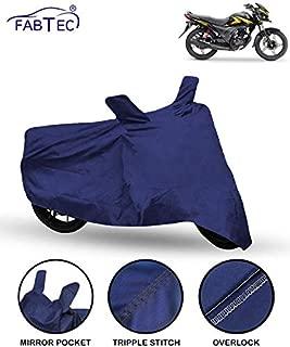 Fabtec Bike/Motorcycle Body Cover for Honda Shine SP (Blue)
