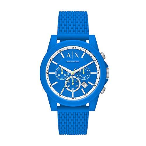 Armani Exchange Men's Analogue Quartz Watch with Silicone Strap AX1345