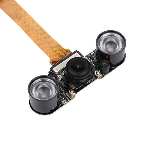 Unistorm Raspberry Pi Zero Kamera Fischaugen-Weitwinkel, 5 MP, 1080p, Nachtsicht-Kamera-Modul für Raspberry Pi Zero W