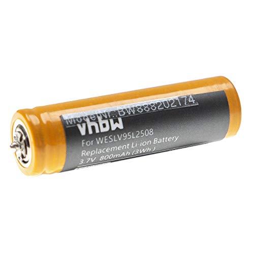 vhbw Batería recargable compatible con Panasonic ES-LT6, ES-LT6A, ES-LT6N, ES-LT70, ES-LV61 afeitadora, cortadora de pelo (800 mAh, 3,7 V, Li-Ion)