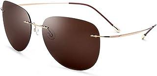41103f1808 HYH Gafas De Sol Polarizadas Sin Tornillos Gafas De Titanio Ultra Ligeras  Sin Marco Protección UV400