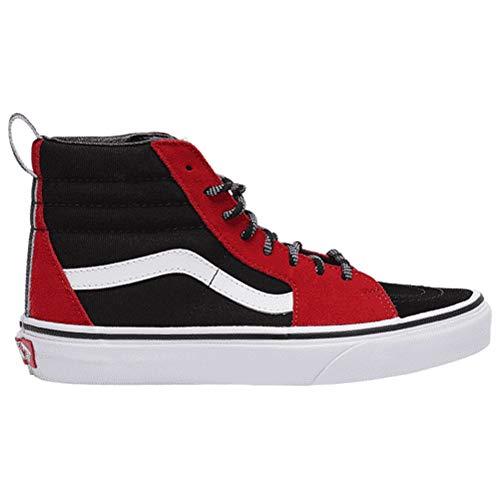 Vans U Sk8-Hi Slim Unisex - Erwachsene Sportschuhe (Rouge Noir Blanc) 24 EU