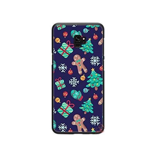 Año Nuevo Navidad Santa Claus nieve teléfono caso para Samsung Galaxy S5 S6 S7 S8 S9 S10 S10e S20 borde más lite-a12-para S10 plus