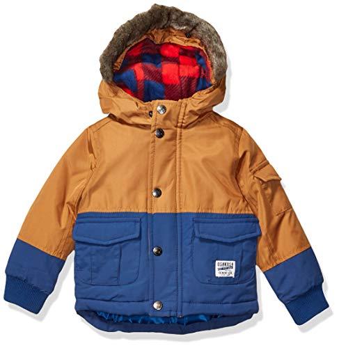 Osh Kosh Baby Boys 4-in-1 Heavyweight Systems Jacket Coat, Mocha Chip/Denim Daze, 12Mo