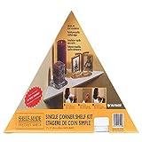 Knape & Vogt EZ12/1WH 12' White Instant Corner Shelves Single Pack