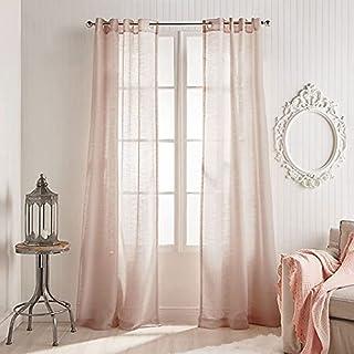 Kelly 84 Inch Sheer Grommet Window Curtain Panel (Single)
