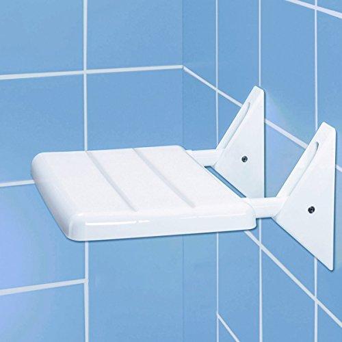 Wenko Sedile ribaltabile per doccia Secura, portata 120kg pieghevole sedia da doccia