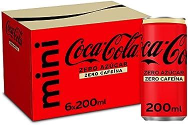 Coca-Cola Zero Azúcar Zero Cafeína - Refresco de cola sin azúcar, sin calorías, sin cafeína - pack 6
