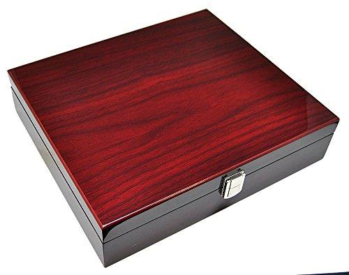 Uhrenhuette Caja para 10 relojes, color rojo