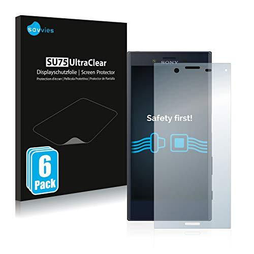 Savvies 6X Schutzfolie kompatibel mit Sony Xperia X Compact Bildschirmschutz-Folie Ultra-transparent