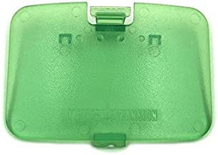 Memory Expansion Jumper Pak Pack Door Cover Lid Replacement Memory Cover Cover Jumper Pak Lid Door for Nintendo 64 N64 Console (Green)