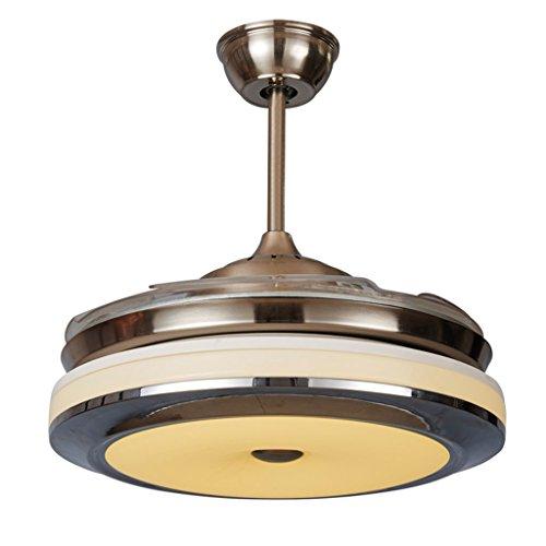 Led ventilateur furtif lumière ultra silencieux grand moteur plafond ventilateur lumières anti-brouillage en évidence lumière chambre plafond ventilateur