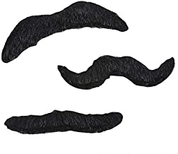 Rhode Island Novelty Mustache Set, 3 Piece, 3.5-Inch (12 pack)