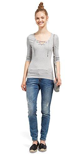 TOM TAILOR DENIM Damen Lynn Vintage Blue with Details Boyfriend Jeans, Blau (Mid Stone Wash Denim 1052), W26/L30 (Herstellergröße: 26)