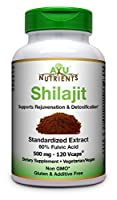 Shilajit Extract (60% Fulvic Acid) -500 mg | Made in USA | Highest Potency and Purity on The Market -120 Vegetarian Capsules