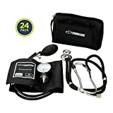 Primacare CSDS-9181-BK Professional Blood Pressure Kit, with Aneroid Sphygmomanometer and Sprague Rappaport Stethoscope, Black (Pack of 24)
