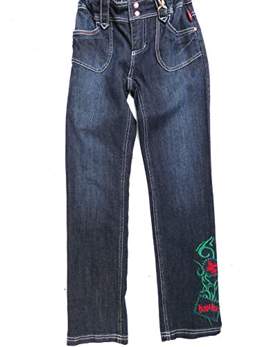 Pampolina Mädchen Jeans 2505106 (140, Denim Blue)