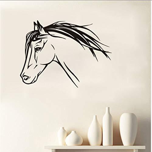 Zlxzlx PVC Mooi Paard S Silhouette Dieren Leeftijden Ro Art Hij Stickers Vinyl Ative 59 * 43Cm