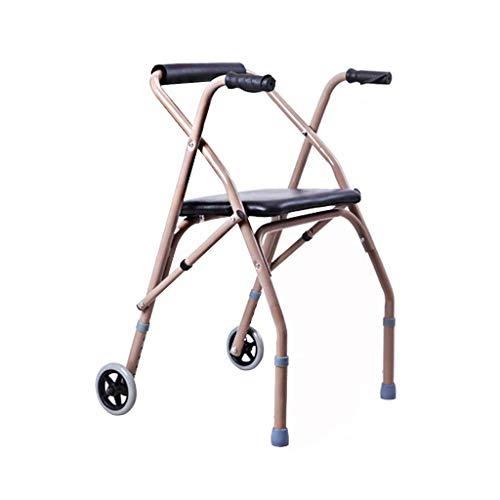 Fhxr Opvouwbare Rollator Walker-Lichtgewicht Medical Rolling Walker met Zit/Wiel-Mobiliteit Rollator voor Volwassene/Senior/Oudere/Disabled-Drive Transport Walker